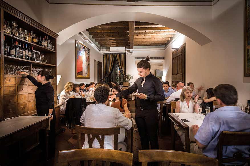 La sala del Ristorante Boccanegra a Firenze
