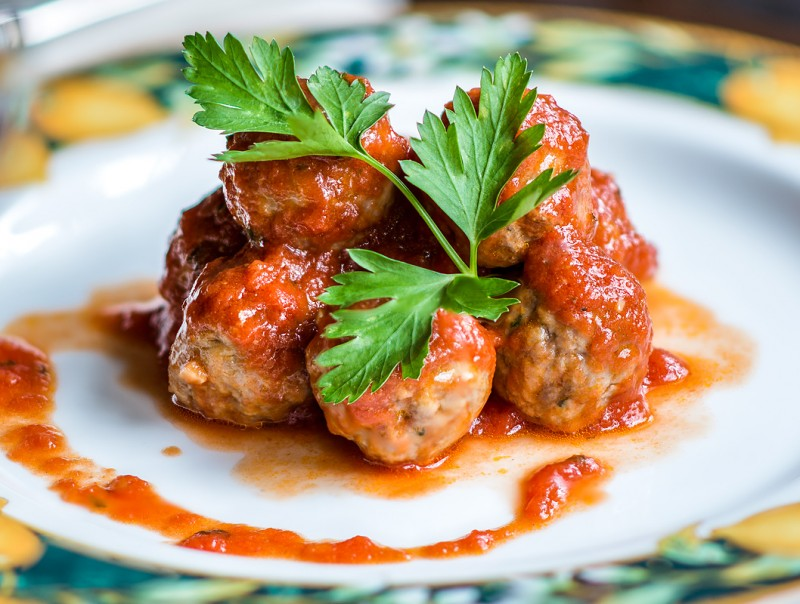 Meat balls with spicy florentine tomatoes - Osteria Boccanegra Florence Italy