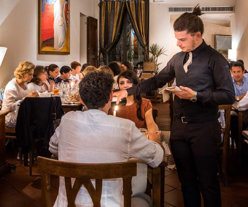 Boccanegra Restaurant in Florence perfect for a romantic dinner