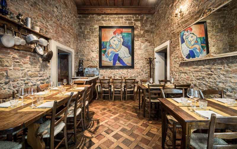 Sala della Osteria Boccanegra di Firenze
