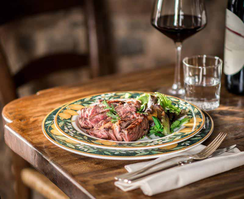 Tagliata di bistecca della Osteria Boccanegra a Firenze