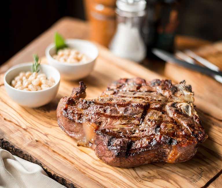 Florentine T-Bone Steak at Boccanegra Florence Restaurant
