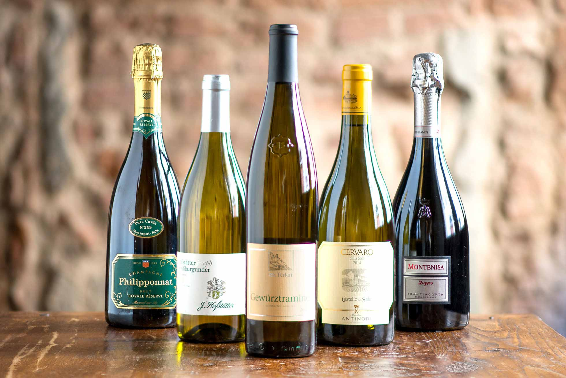 Sparkling and White Wines - Boccanegra restaurant Florence