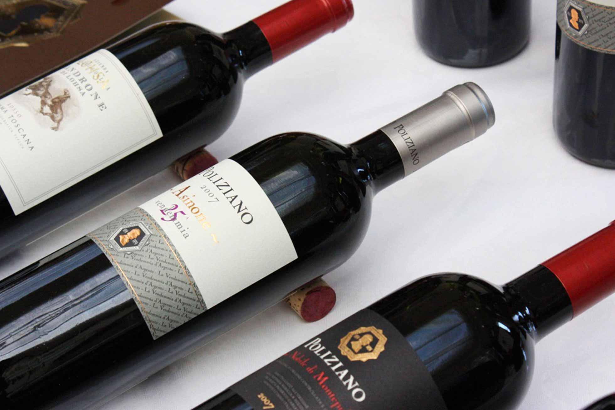 Boccanegra Florence - Nobile di Montepulciano wine bottles