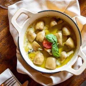 Coccetto al forno dal menu Pausa Pranzo del Boccanegra