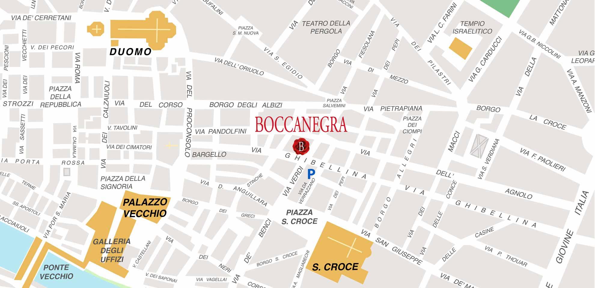 Mappa Ristorante Boccanegra a Firenze