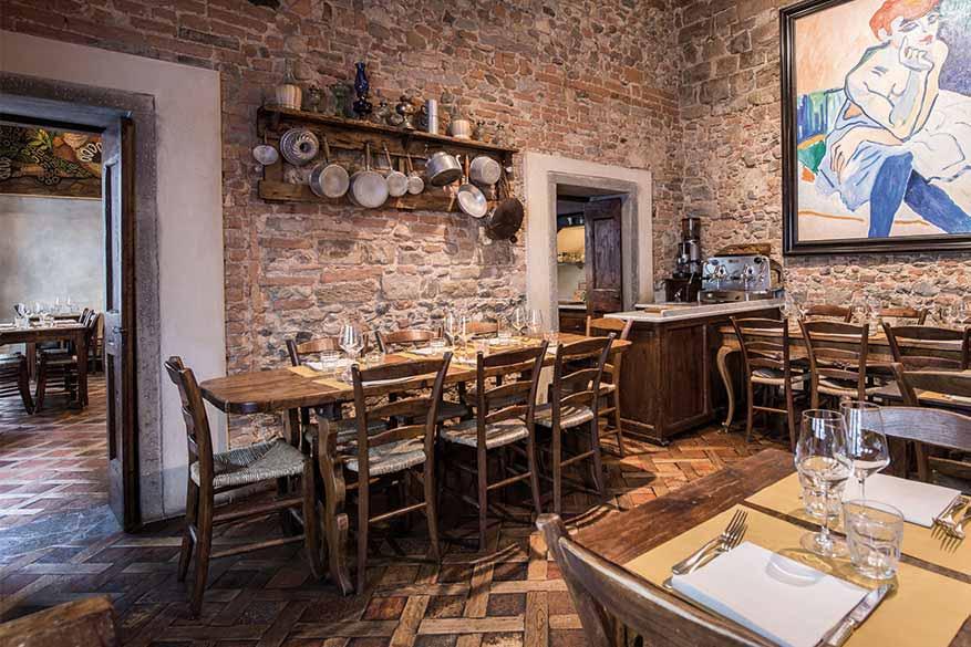 La saletta della Osteria Boccanegra a Firenze