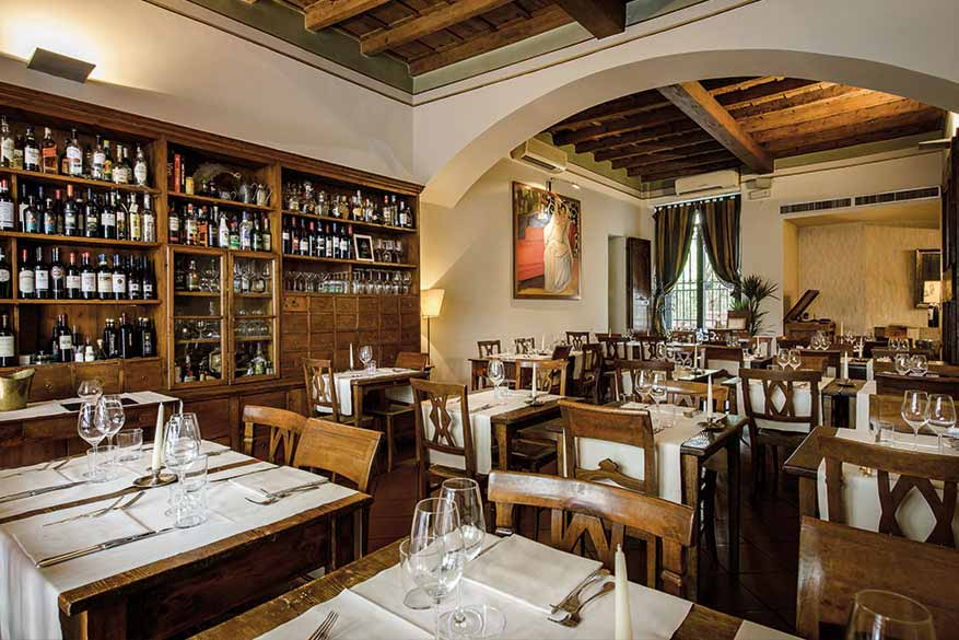 Boccanegra Restaurant in Florence - the main room