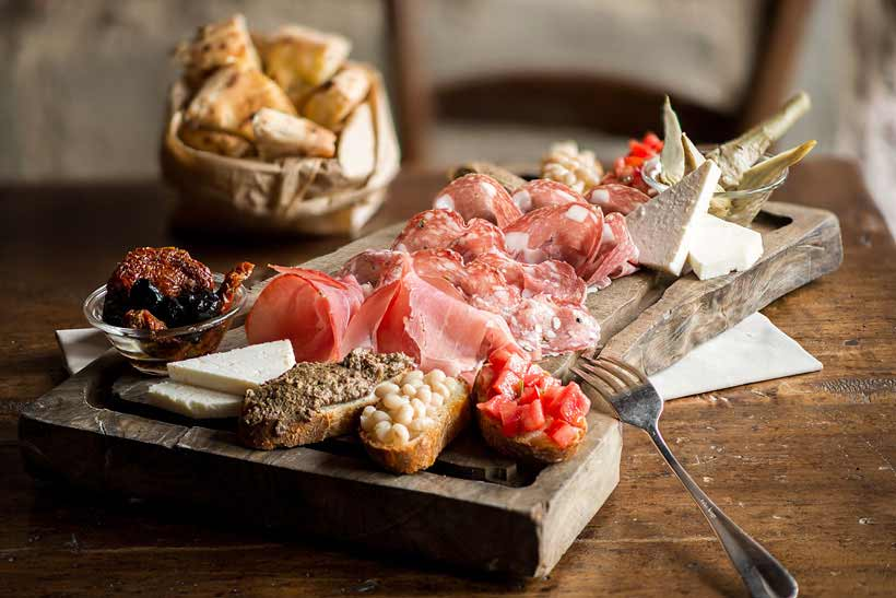 Boccanegra Chopping Board of Tuscan Specialties