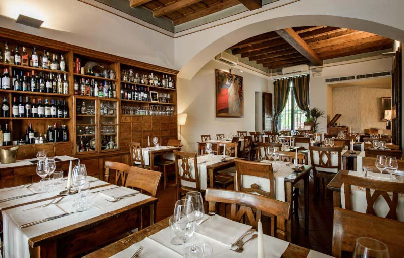 Dining Room at Boccanegra Restaurant Florence Italy