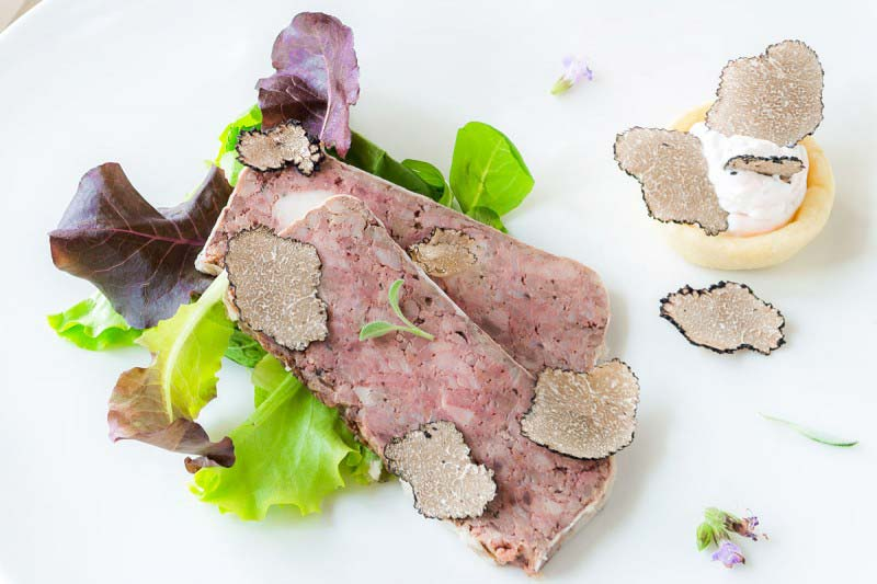 Rabbit terrine with truffle and salad - Boccanegra Florence Restaurant