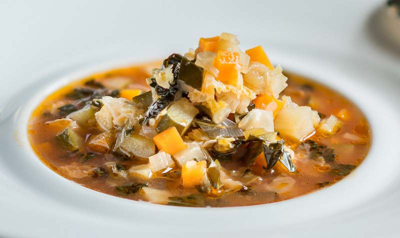 """Ribollita""Vegetable soup with black cabbage and bread - Boccanegra Florence Restaurant"