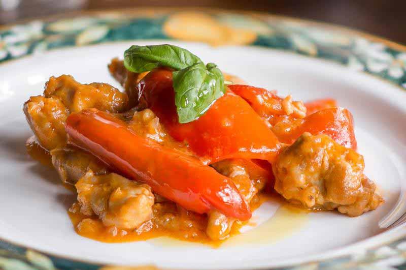Bocconcini ai peperoni della Osteria Boccanegra di Firenze