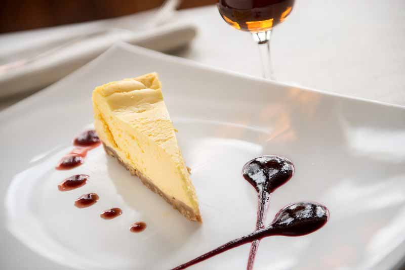 Il delizioso Cheesecake servito al Ristorante Boccanegra di Firenze