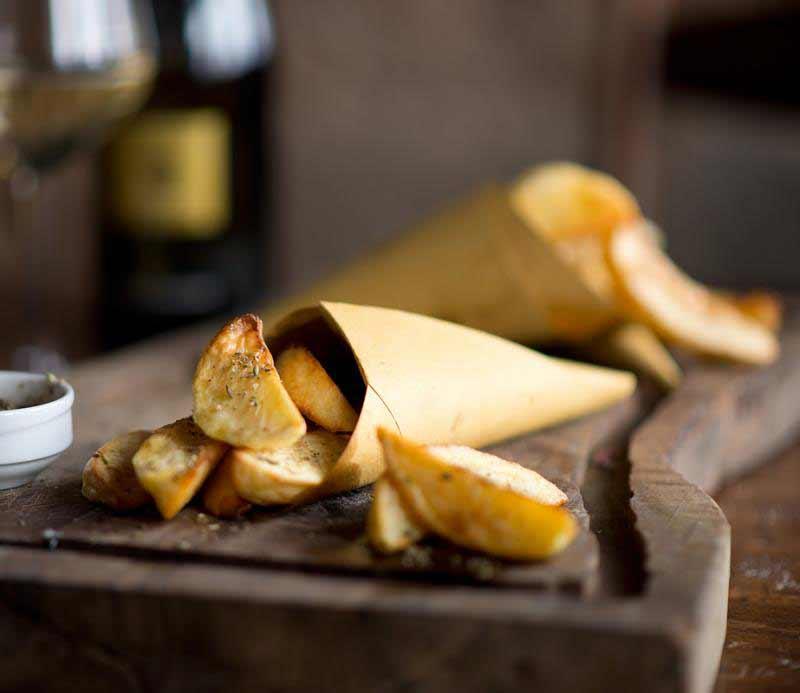Patate al forno presentate nel cartoccio, Osteria Boccanegra di Firenze