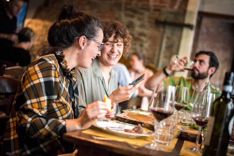 Pranzo alla Osteria Boccanegra di Firenze, aperto a pranzo anche il lunedì.